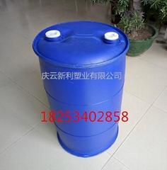 全新100公斤藍色圓化工桶