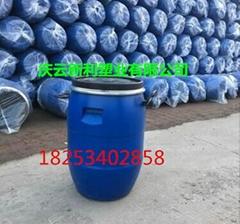 藍色圓50公斤塑料桶法蘭50KG塑料桶新利批發價格