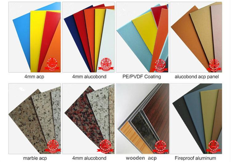 4mm aluminum compostie board with PVDF 4