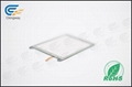Interactive resistive touch glass panel