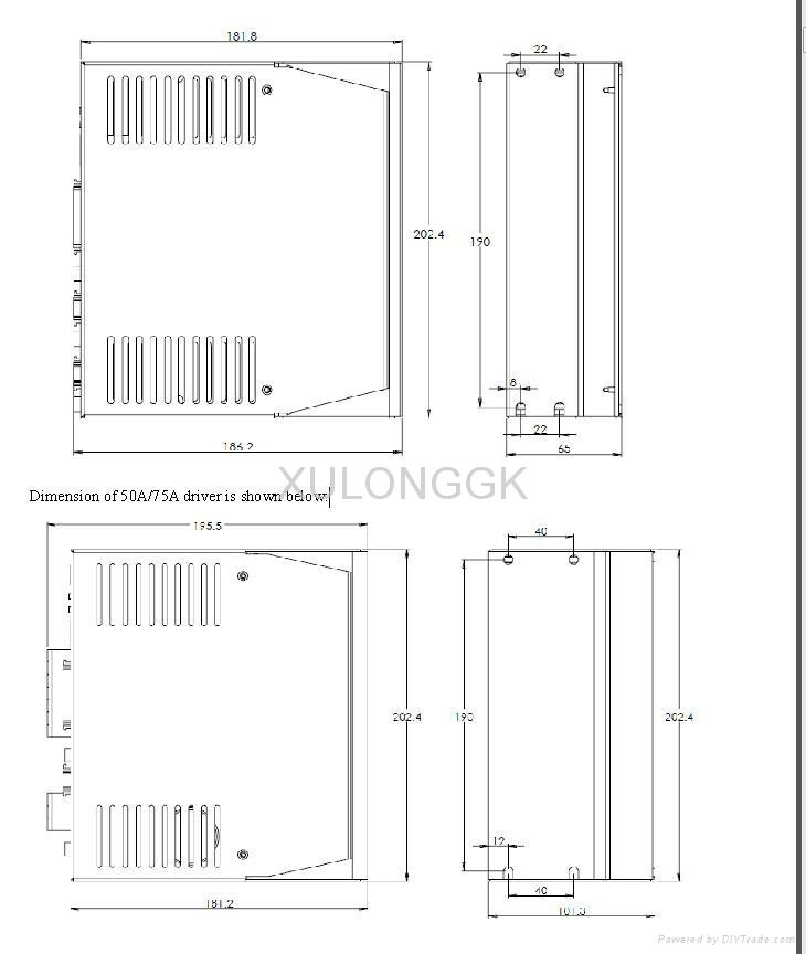 武漢華大電機 永磁同步伺服1.2kw 4N 3000rpm 220V 木工機械用 8