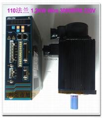 武漢華大電機 永磁同步伺服1.2kw 4N 3000rpm 220V 木工機械用