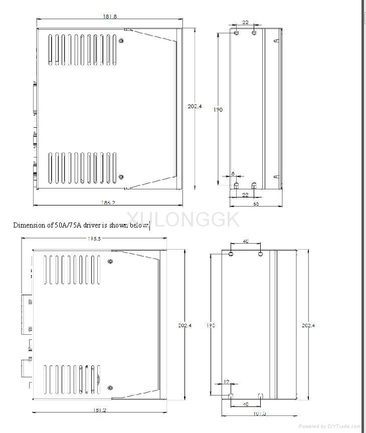 华大伺服电机配K系列驱动器130ST-M05025LFB 1.3kw 5N  220V 雕刻机用 5