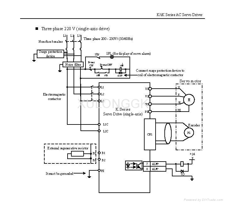 华大伺服电机配K系列驱动器130ST-M05025LFB 1.3kw 5N  220V 雕刻机用 7