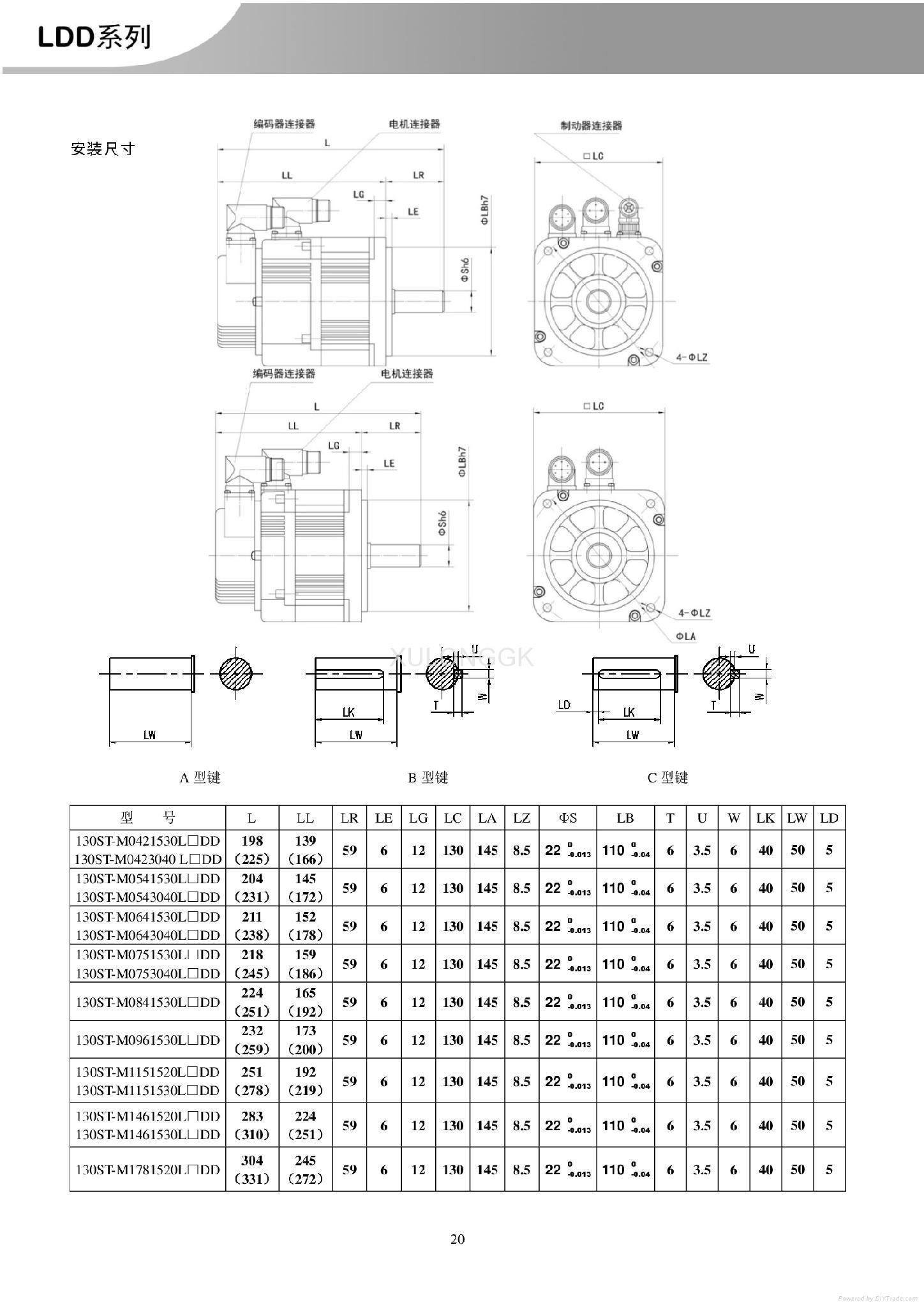 华大绝对值总线电机23位 加工中心替安川130ST-M0751530LM1DD 1.2KW 7.5N 数控车用 6