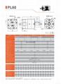 行星减速机 齿轮减速箱 配伺服电机用 PL60 3-1000比