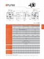 精密行星减速机 配伺服电机 步进电机 直流电机用 PLF60 3-1000比