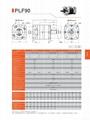 精密行星减速机 配伺服电机 步进电机 直流电机用 PLF90 3-1000比