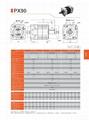 精密行星减速机 配伺服电机 步进电机 直流电机用 PX90 3-1000比