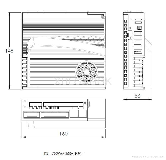 伺服驱动器外观尺寸