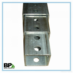 galvanized traffic safety square sign post