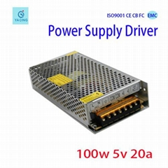 Factory direct sell DC 5V 20A power  supply for led lighting