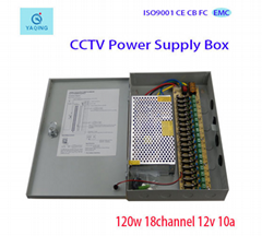 18Channle 120W CCTV Switching Power Supply Box For 18 channel Monitor