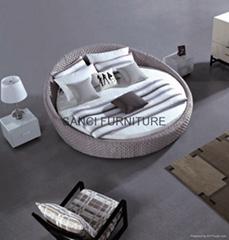 供应尚驰品牌米兰情调系列卧室家具 圆形布艺软床