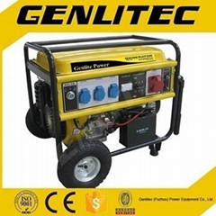 Three Phase 6kw Gasoline Generator with Wheels and Handles