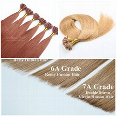 7A Double Drawn Brazilian Virgin Hair U Tip Hair Extension, 100g, 20 inches,