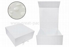Wedding dress packagking foldable cardboard magnet box