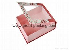 foldable PVC window gift box