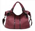 Fashion canvas messenger shoulder handbag tote beach shopping bag