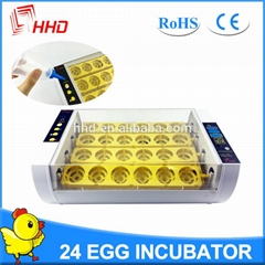 2017 Latest HHD automatic chicken egg incubator for sale YZ-24A