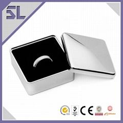 Zinc Alloy Square Shape Ring Jewelry Box