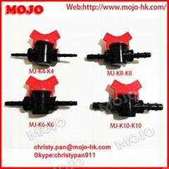 MJ-K8-K8 White Black Plastic Micro water flow control valve