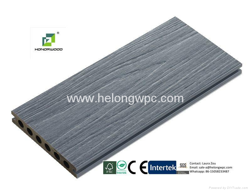 2016 Helong Hot-sale weather-reisistant co-extrusion composite decking/WPC deck 2