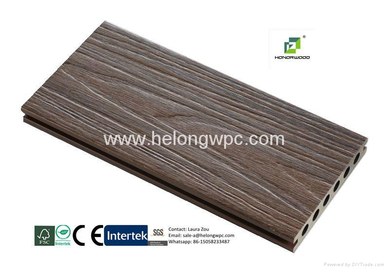 2016 Helong Hot-sale weather-reisistant co-extrusion composite decking/WPC deck 3