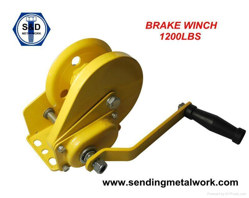 Hand Winch Trailer Winch Boat Winch Brake Winch 1200lbs 1