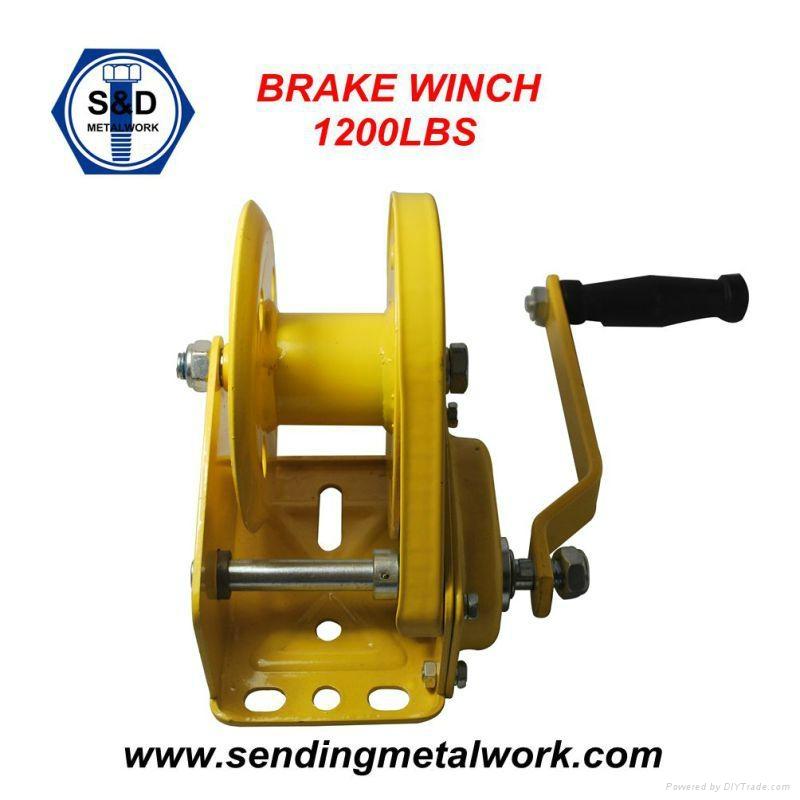 Hand Winch Trailer Winch Boat Winch Brake Winch 1200lbs 2