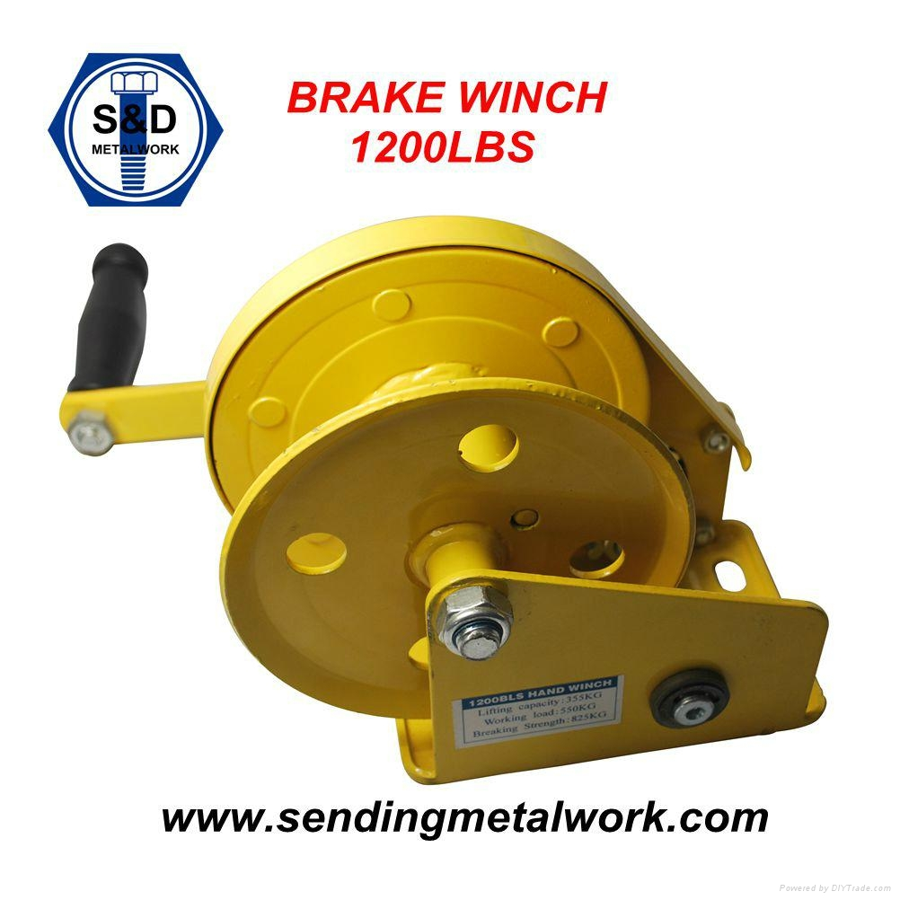 Hand Winch Trailer Winch Boat Winch Brake Winch 1200lbs 3