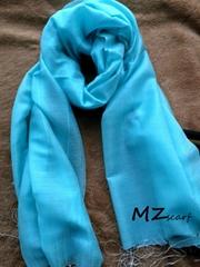 Pure cutton pure blue scarf
