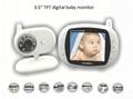 3.5 inch Digital Wireless Audio Video Baby Monitor