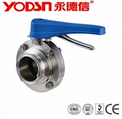 """1""""Stainless Steel manual clamp type sanitary butterfly valve with pull handle"""
