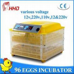 Hot sale automatic 96 eggs mini egg incubator price
