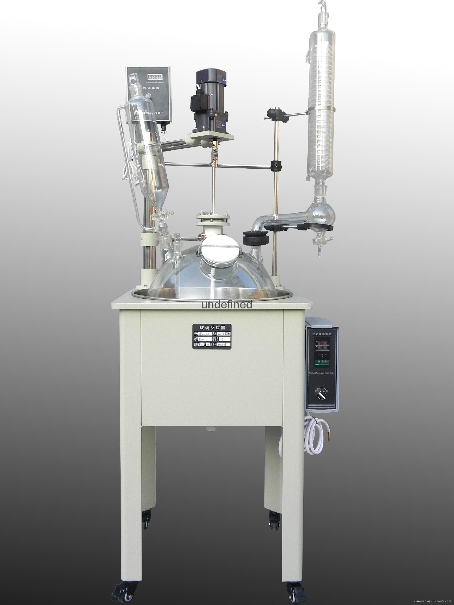 10L jacketed single lined glass reactor for distillation 4
