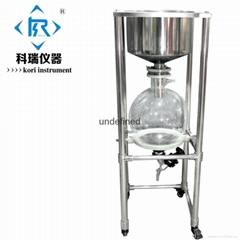 10L,20L,30L,50L Lab Glass vacuum filter with Buchner funnel with Vacuum Pump