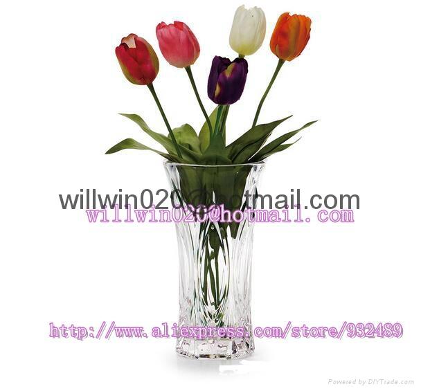 Beautiful Bulk Wholesale Cheap Tall Clear Acrylic Glass Flower Vases