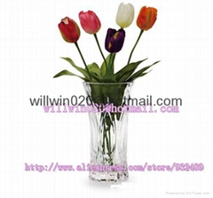 beautiful BULK wholesale cheap tall clear acrylic glass flower vases supplier