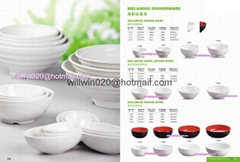 wholesale food grade plastic white red black melamine dinnerware