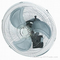 electric oscillation wall fan with timer
