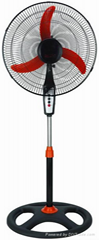electric speed choosable stand fan with  3 ABS Blades and4 Holes Round Base