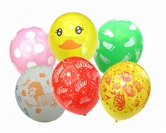 printed latex balloons for party decoration