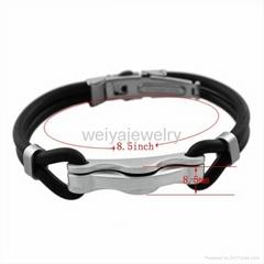 Black silicone bracelet