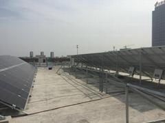 雙玻雙面太陽能電池板農村屋頂光伏發電
