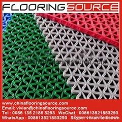 PVC S Mesh Floor Mat Non Slip for entrance and wet aera