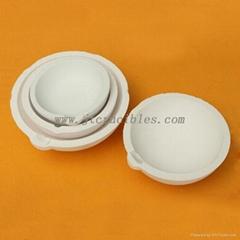 High purity fused quartz ceramic crucible for melting metal