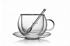 雙層杯  茶具  耐熱玻璃