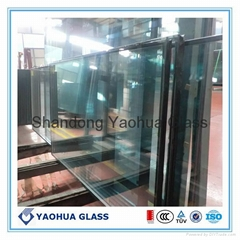 insulated glass with LOW-E for curtain wall