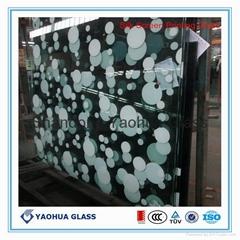 彩釉絲印鋼化玻璃
